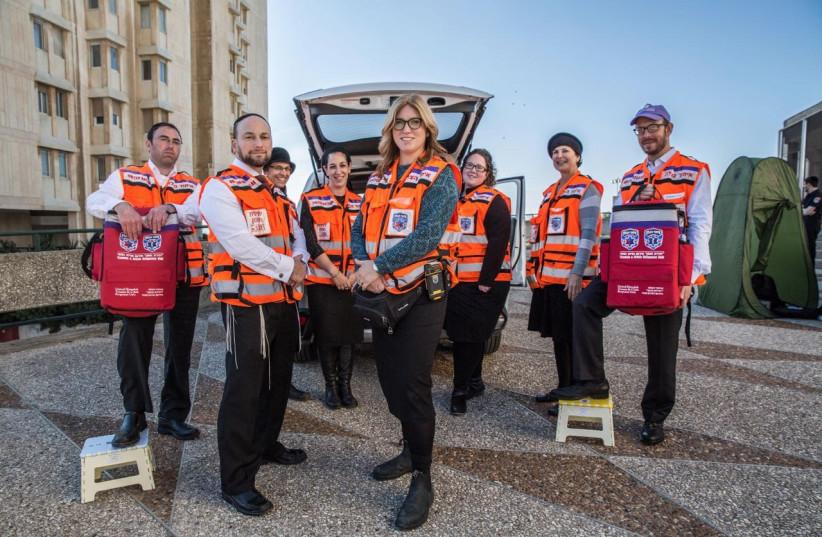 Members of the Psychotrauma and Crisis Response Unit in Jerusalem (photo credit: COURTESY UNITED HATZALAH)