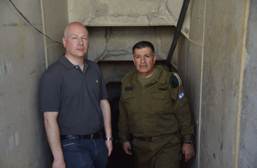 US Special Envoy to the Middle East Jason Greenblatt (L) and Major General Yoav Mordechai (R). (photo credit: COORDINATION OF GOVERNMENT ACTIVITIES IN THE TERRITORIES)