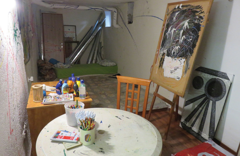 SOTERIA ART therapy room. (photo credit: JUDY SIEGEL-ITZKOVICH)