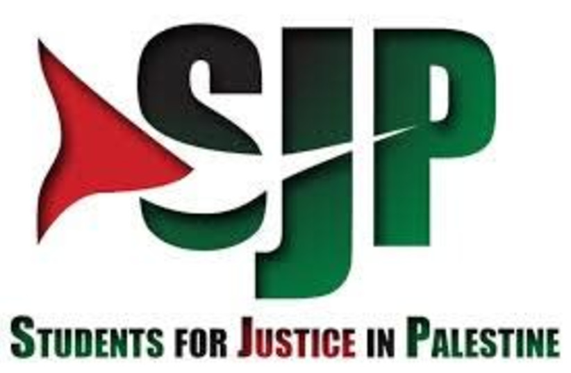 Students for Justice in Palestine logo (photo credit: WIKIMEDIA)