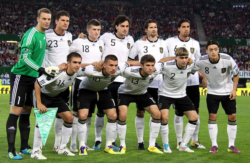 German national soccer team during Euro 2012 qualifiers. (photo credit: STEINDY/WIKIMEDIA COMMONS)