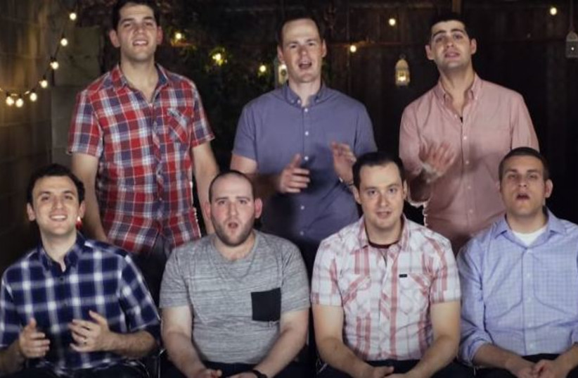 The Maccabeats perform a Hebrew version of 'Despacito' (photo credit: YOUTUBE SCREENSHOT)