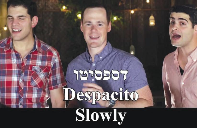 JEWISH A CAPPELLA group Maccabeats performing their version of 'Despacito.' (photo credit: YOUTUBE SCREENSHOT)