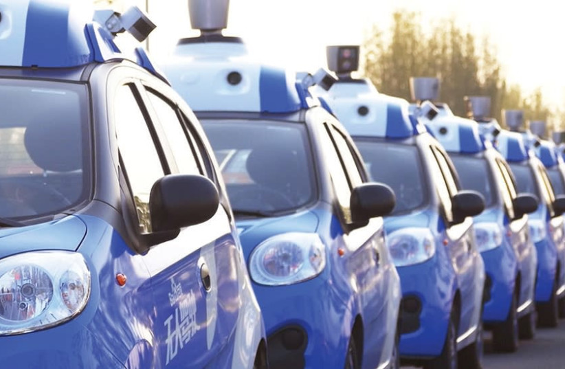 WELCOME TO the future. A fleet of autonomous vehicles in Wuzhen, Zhejiang Province, China, one of many new developments no longer just in sci-fi books. (photo credit: REUTERS)