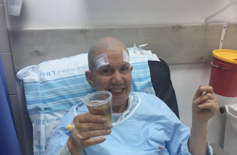 Rabbi Yocheved Mintz after procedure (photo credit: AMERICAN FRIENDS OF RAMBAM)