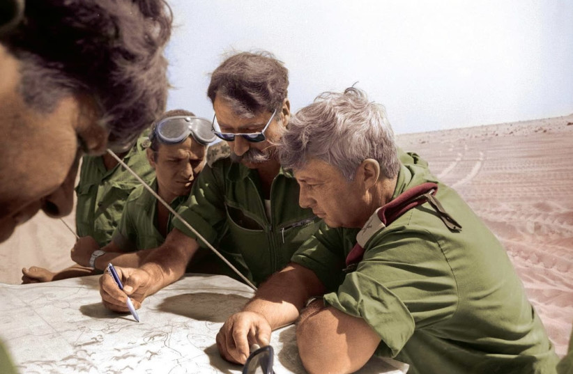 RETIRED GENERAL Amnon Reshef with the late Ariel Sharon during the Yom Kippur War. (photo credit: RAMI BAR ILAN/IDF ARCHIVES)