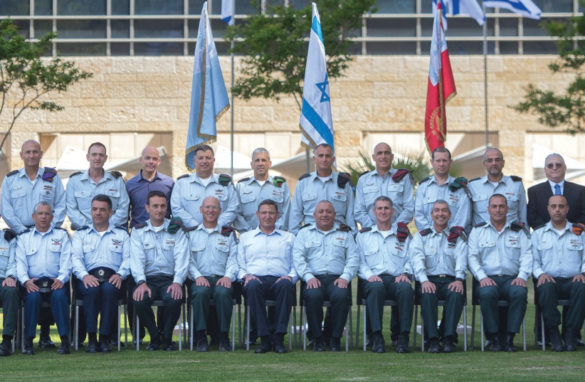 THE GENERAL STAFF of the IDF on the eve of Independence Day 2017.  (photo credit: IDF)