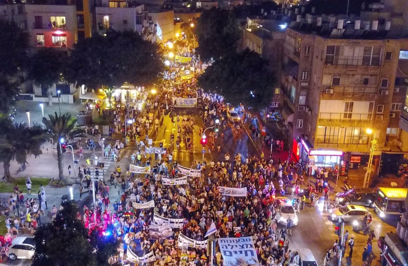 Thousands of animal rights protesters gather in Tel Aviv for historic rally.  (photo credit: HAREL BEN NON)