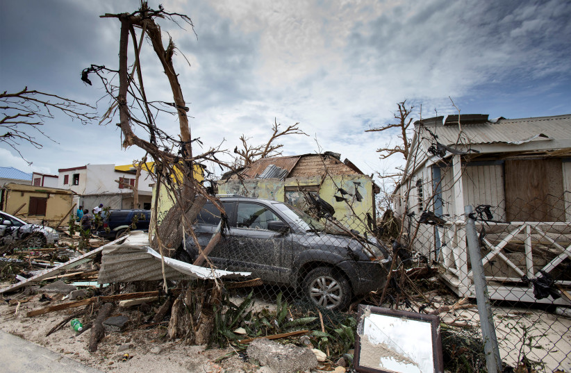 The aftermath of Hurricane Irma on Saint Martin island in the Carribean (photo credit: HANDOUT/REUTERS)