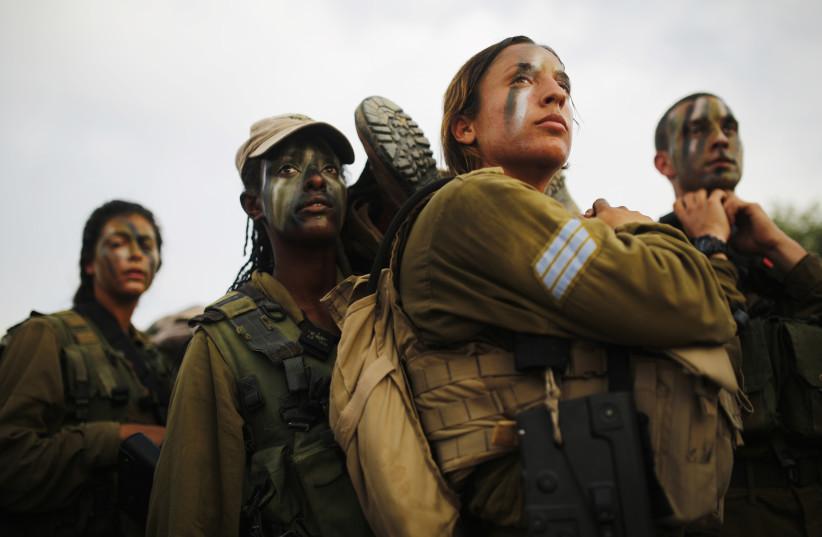 Israeli soldiers of Caracal battalion (photo credit: AMIR COHEN - REUTERS)