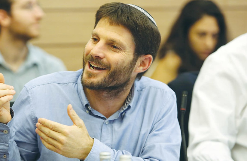 Bayit Yehudi MK Bezalel Smotrich hopes to use his powers of persuasion, as in this November 2015 photo, to sell a new right-wing diplomatic plan. (photo credit: MARC ISRAEL SELLEM)