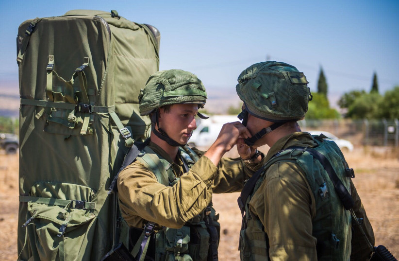 IDF soldiers participating in the Or HaDagan Northern Command drill, September, 2017. (photo credit: IDF SPOKESPERSON'S UNIT)