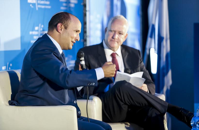 Education Minister Naftali Bennett at Institute for Counter-Terrorism's 17th annual conference, September 11, 2017. (photo credit: KFIR BOLOTIN)