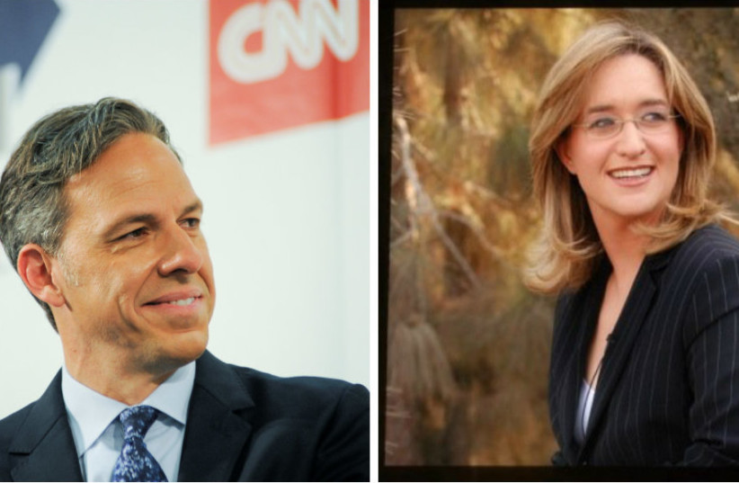 CNN's Jake Tapper (Left) and Channel 2's Ilana Dayan (photo credit: REUTERS/WIKIMEDIA COMMONS)