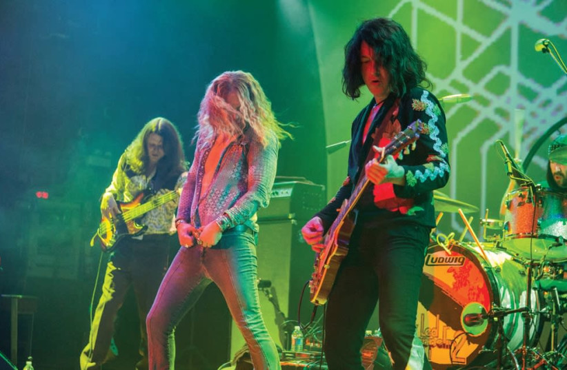 Members of the Led Zeppelin 2 tribute band. (photo credit: BARRY BRECHEISEN)
