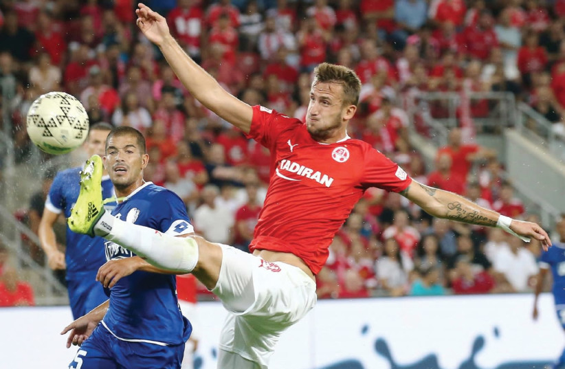 Hapoel Beersheba will need Czech striker Tomas Pekhart to be at his best against Lugano in Europa League action tonight with the team missing four other strikers through injury. (photo credit: DANNY MARON)