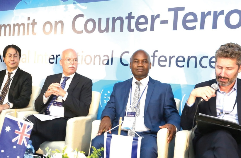 EXPERTS TAKE PART in a panel discussion at the World Summit on Counter-Terrorism in Herzliya on Tuesday. (photo credit: IDT)
