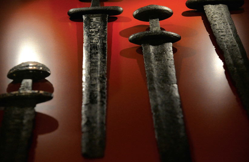 Antique swords from ancient Israel.  (photo credit: REUTERS)