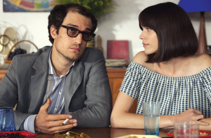 Louis Garrel (left) and Stacy Martin star in Michel Hazanavicius's 'Redoubtable.' (photo credit: COURTESY JERUSALEM FILM FESTIVAL)