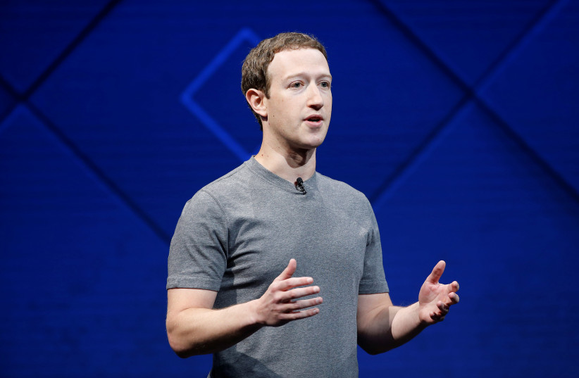 Mark Zuckerberg speaks at Facebook's annual F8 developers conference in San Jose, California (photo credit: STEPHEN LAM / REUTERS)