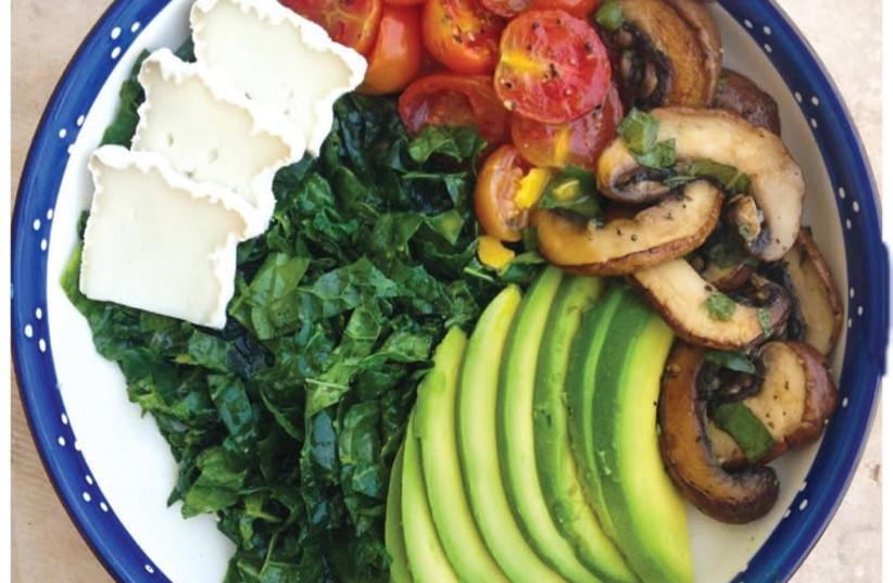 Kale salad. (photo credit: RACHEL GEMARA)