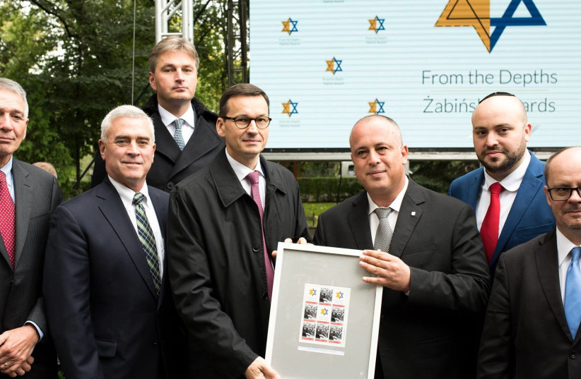 British MP Daniel Kawczynski was honored for saving hundreds of Polish Jews, September 18, 2017. (photo credit: TOMASZ SOLINSKI)