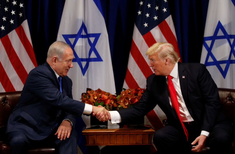 US President Donald Trump meets with Israeli Prime Minister Benjamin Netanyahu in New York, US, September 18, 2017. (photo credit: REUTERS)