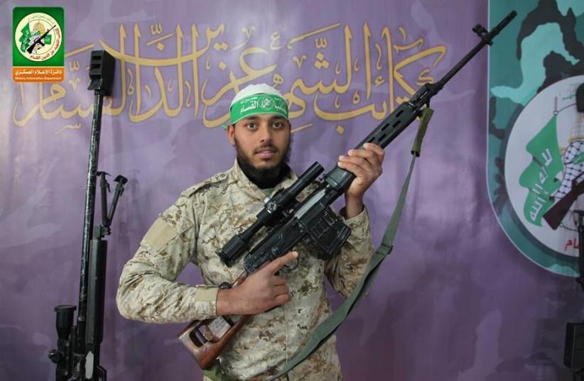 Hamas militant Hani Shlouf was killed in a tunnel incident, September 19, 2017. (photo credit: ARAB MEDIA)