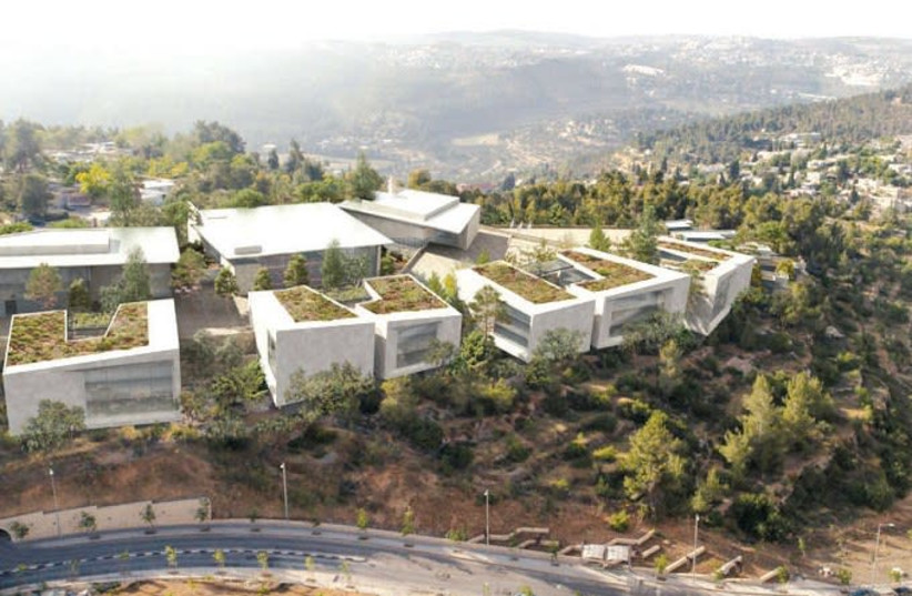 THIS IMAGE SHOWS how the IDF military campus under construction in Jerusalem will look.  (photo credit: IDF)
