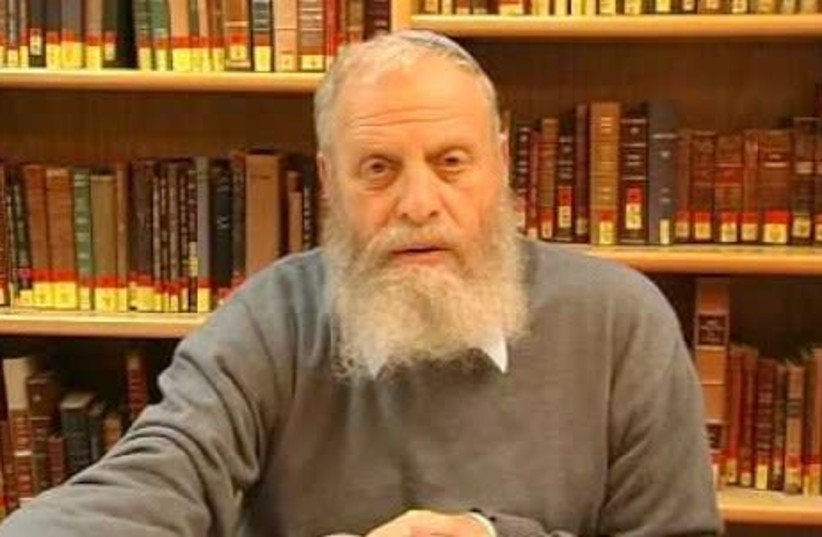 RABBI YOEL BIN-NUN, co-founder of the Har Etzion Yeshiva and of Gush Emunim: Allow non-Orthodox services in the upper Western Wall plaza. (photo credit: screenshot)