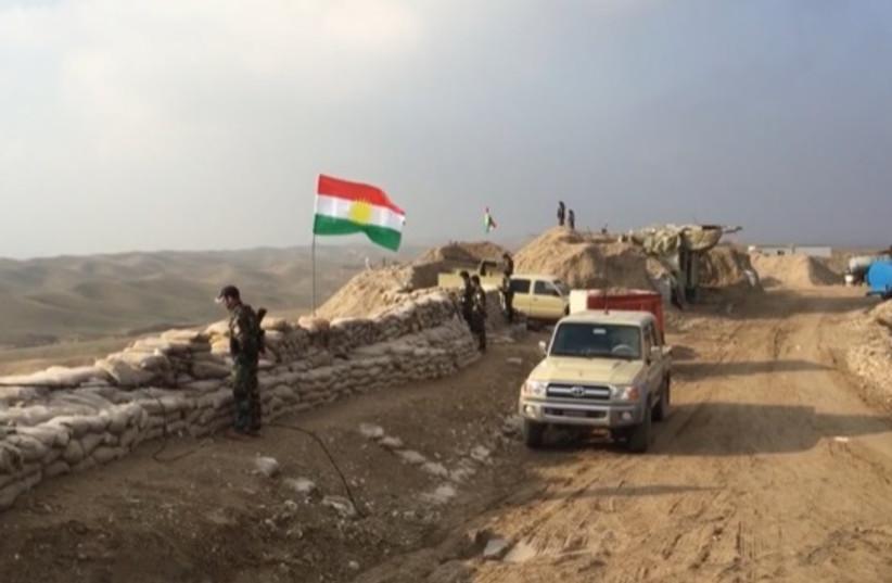 Kurdish Peshmerga overlooking the road to Hawija in 2015. (photo credit: SETH J. FRANTZMAN)