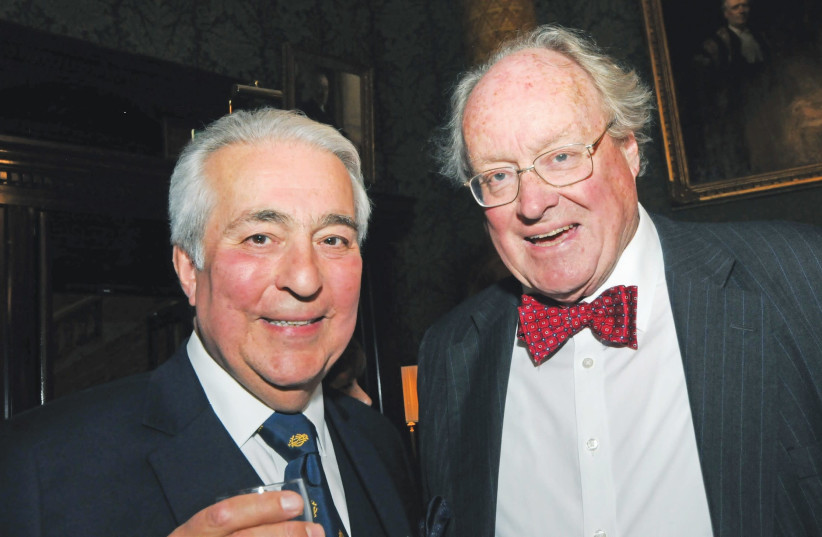Judge Lawrence Brass (left) and Sir Andrew Burns. (photo credit: Courtesy)