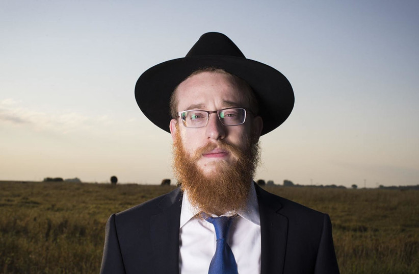 Rabbi Mendel Alperowitz has moved his family from Brooklyn, NY, to Sioux Falls, S.D. to be the first Rabbi to live in the state since late 1970's. (photo credit: RENEE JONES SCHNEIDER – STAR TRIBUNE/TRIBUNE NEWS SERVICE)