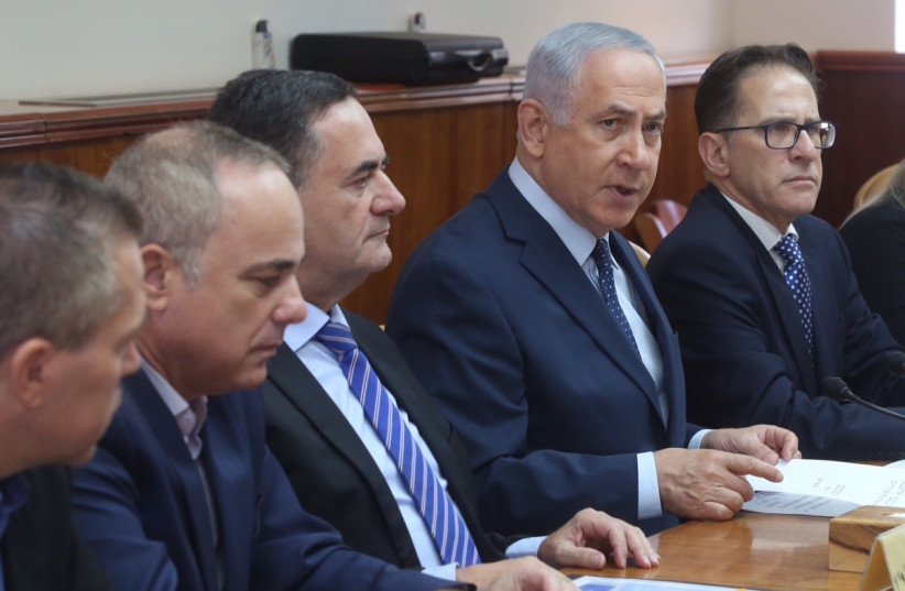 Israeli Prime Minister leads the weekly Cabinet meeting in Jerusalem (photo credit: MARC ISRAEL SELLEM)