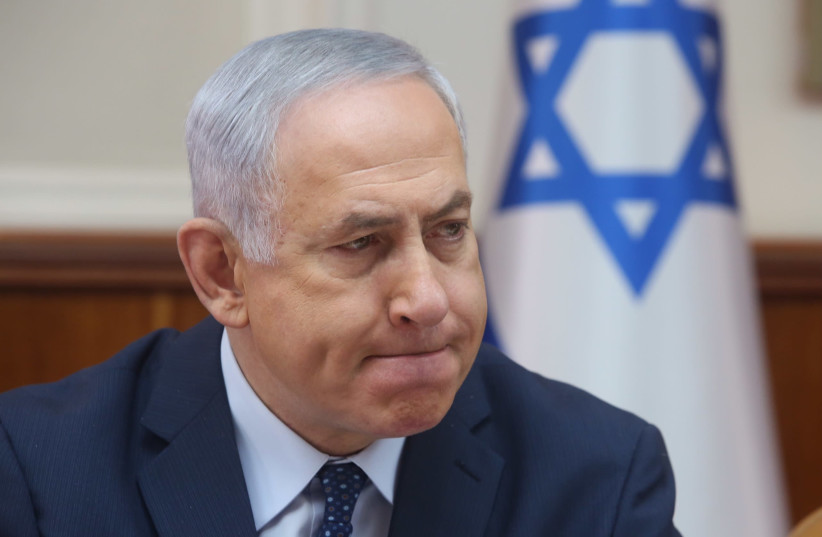 Israeli Prime Minister Benjamin Netanyahu at a cabinet meeting (photo credit: MARC ISRAEL SELLEM)
