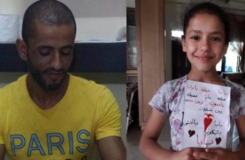 Har Adar attacker Nimer Mahmoud Ahmad Jamal (L) and his daughter (R) (photo credit: MAAN NEWS AGENCY)