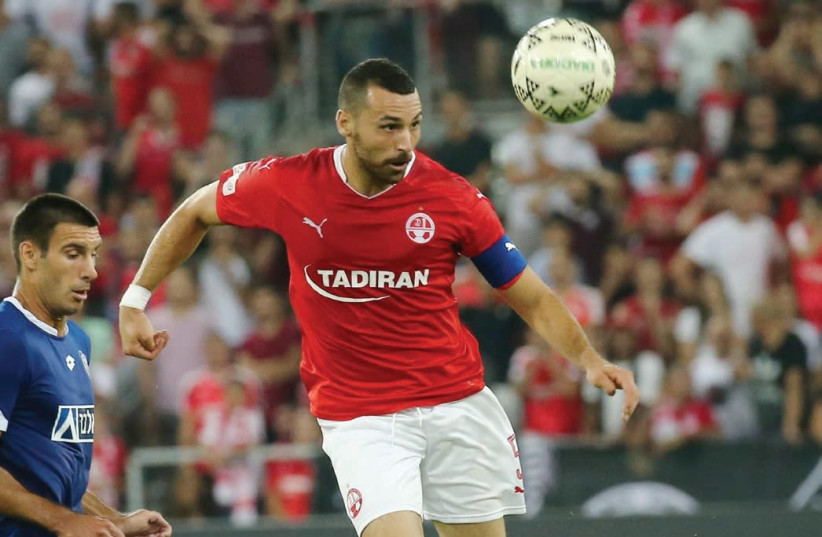 Hapoel Beersheba defender Shir Tzedek could face a lengthy suspension after failing a drug test following a Champions League qualifier earlier this season. (photo credit: DANNY MARON)