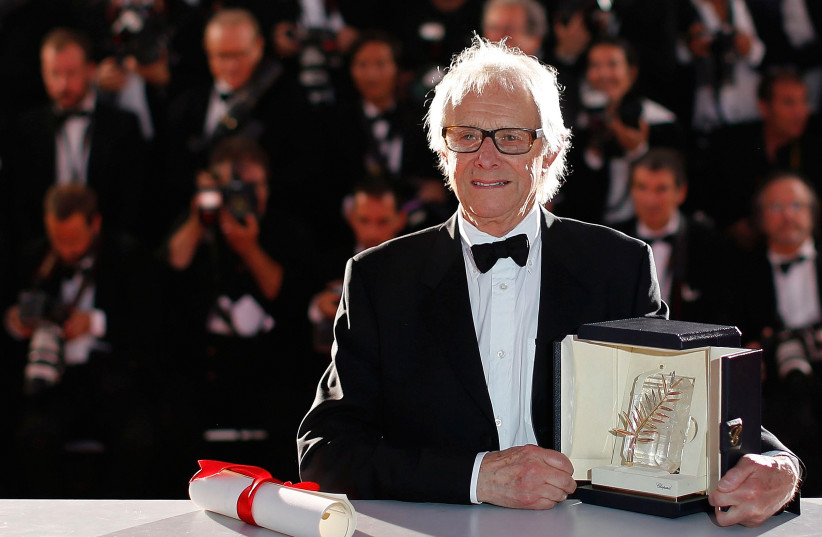 "Director Ken Loach, Palme d'Or award winner for his film ""I, Daniel Blake"", poses during a photocall after the closing ceremony of the 69th Cannes Film Festival in Cannes, France, May 22, 2016. (photo credit: REUTERS)"