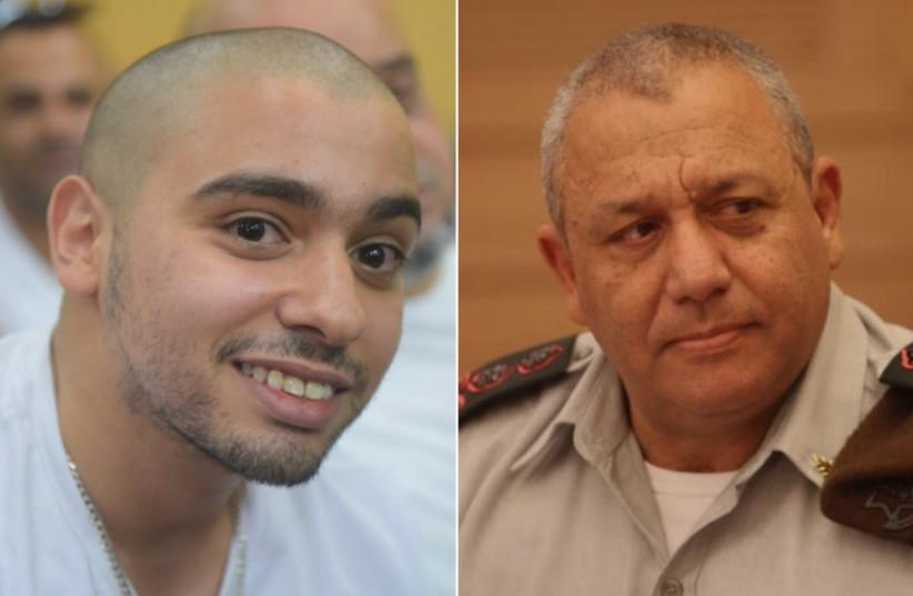 Hebron shooter Elor Azaria and IDF Chief of Staff Gadi Eisenkot (photo credit: MAARIV/MARC ISRAEL SELLAM)