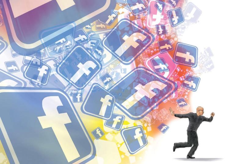 'FACEBOOK HAD done a better job at booting me off social media than Jewish law...' (photo credit: CHUCK TODD/TNS)