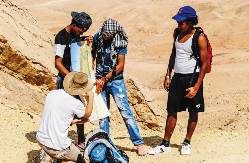 Eritrean refugees in Nitzana. (photo credit: JEWISH AGENCY)