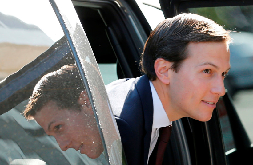White House Senior Adviser Jared Kushner arrives for his appearance before a closed session of the Senate Intelligence Committee as part of their probe into Russian meddling in the 2016 U.S. presidential election, on Capitol Hill in Washington, U.S. July 24, 2017. (photo credit: JONATHAN ERNST / REUTERS)