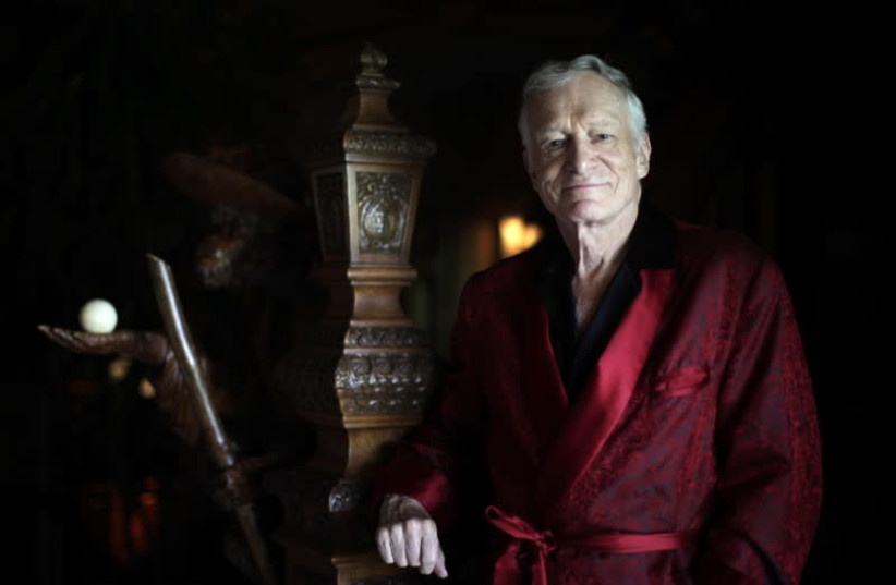 Playboy founder Hugh Hefner died on September 27 at the age of 91.   (photo credit: LUCY NICHOLSON / REUTERS)