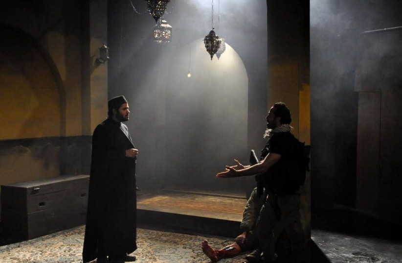 """The Freedom Theater's """"The Siege"""" (photo credit: SAHAR ROUHANA)"""