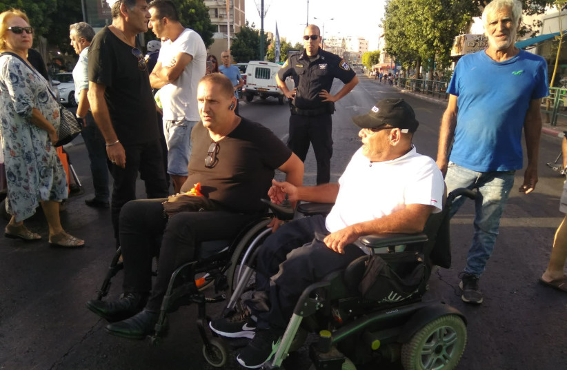 Disabled Israelis take part in a protest  (photo credit: Courtesy)