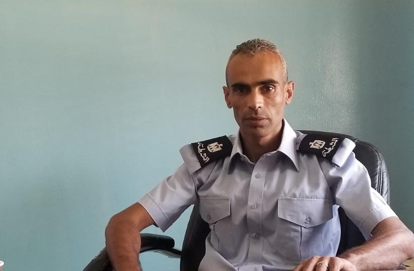 Major Saed Naasan in his office in Al-Ram (photo credit: ADAM RASGON)