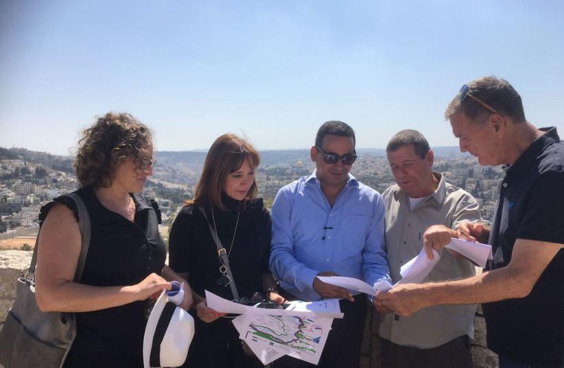 A group of MKs tour East Jerusalem, October 2017 (photo credit: Courtesy)