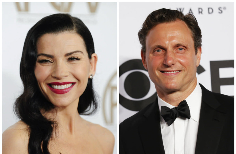 Julianna Margulies and Tony Goldwyn (photo credit: GUS RUELAS AND ANDREW KELLY / REUTERS)