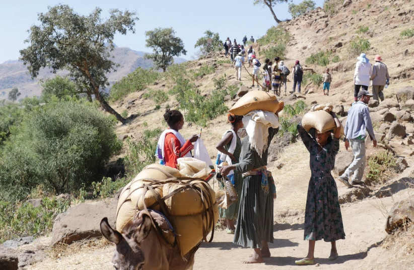 PARTICIPANTS in the 2016 'Journey to Identity' program cover some of the same ground in Ethiopia where their parents began their long and dangerous walk to Sudan. (photo credit: AVI TALALA)