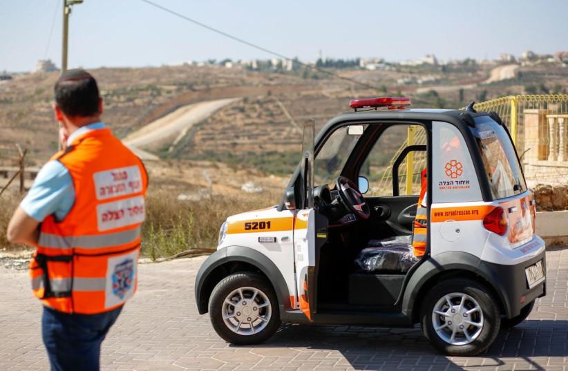 Electric mini ambulance United Hatzalah (photo credit: UNITED HATZALAH)